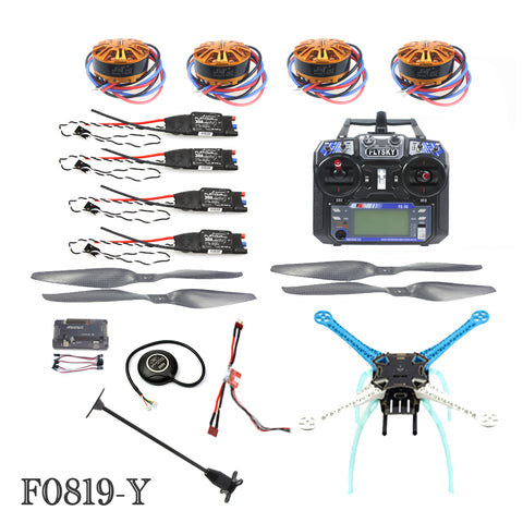 QWinOut 2.4G 6ch RC Quadcopter Drone 500mm S500 PCB APM2.8 M8N GPS ARF/PNF No Battery Kit DIY Unassembly Brushless Motor ESC