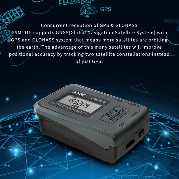 SKYRC GSM-015 GNSS GPS Speed Meter High Precision GPS Tester Height Speed Tester for RC Drones FPV Multirotor Quadcopter Airplane Helicopter