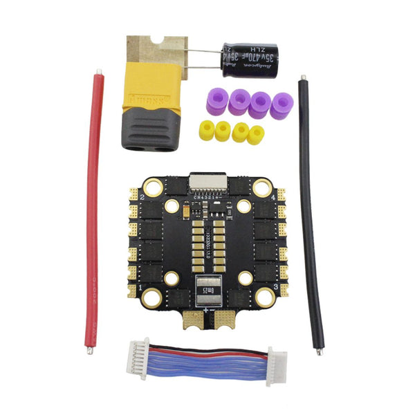 HAKRC 45A BLheli_32 2-6S 4in1 Brushless ESC Double Hole DShot150/300/600 PWM Oneshot125/42 Multshot for FPV Drone Helicopter
