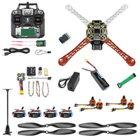 QWinOut Mini DIY Full F450 Drone Set 2.4G 10CH Remote Control Quadcopter Radiolink PIX M8N GPS PIXHAWK Altitude Hold FPV Upgrade