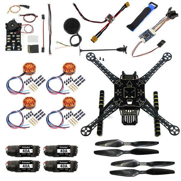 QWinOut S600 DIY FPV Drone 4 axis Quadcopter Welded Kit Unassembled w/ Pix2.4.8 Flight Control GPS 7M 40A ESC 700kv Motor