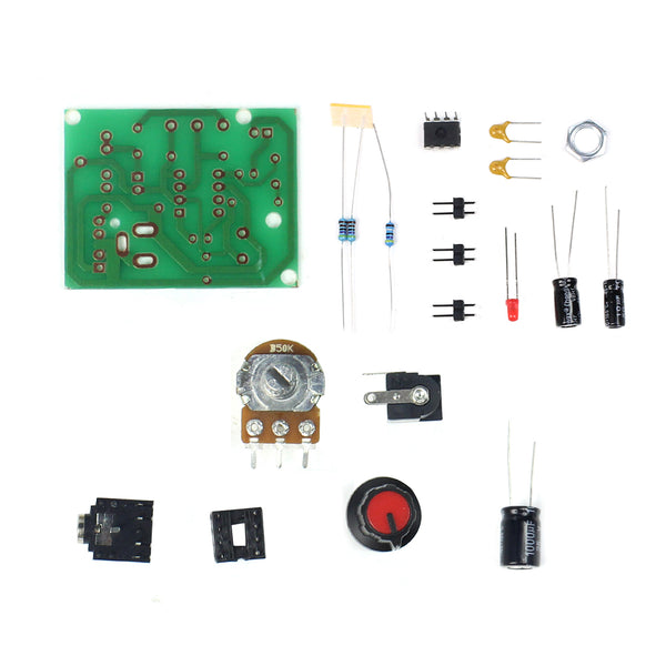 Feichao Smart Electronic DIY Kit LM386 Super Mini Audio Amplifier DIY Kit Suite Trousse LM386 Amplificador Module Board 3-12V