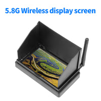 QWinOut 5.8G 48CH 4.3 Inch LCD Screen FPV Monitor With Short FPV Antenna RP-SMA for FPV Racing Drone Quadcopter