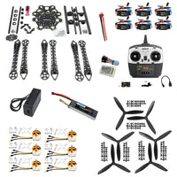 QWinOut DIY Drone Quadcopter Upgraded Full Kit HMF S550 9045 3-Propeller 6 axle Multitor Hexacopter RTF/ARF with 6ch TX / RX