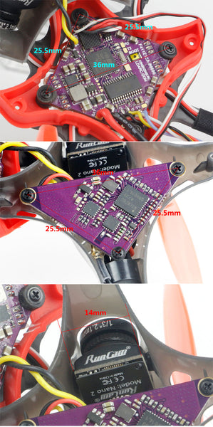 LDARC AK123 KIT 122mm 3S 3 Inch Toothpick FPV Racing Drone Frame Kit 1103-6500KV Motor 75mm Propeller for RC Drone FPV BetaFPV CineWhoop