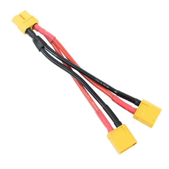 QWinOut XT60 Parallel Battery Connector Cable Extension Y Splitter for DIY RC Drone Toy Quadcopter