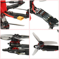 "FEICHAO 175mm X6 Mini Airframe Six-Axis with Omni F4 Pro(V2) Flight Controller Built in OSD BEC 1204-5000kv Motors 20A ESC 3016 3-Blade Props  1/1.8""  1200TVL 2.1mm+ND filter 11.4V/50C 1100MAH Battery FPV Camera & Goggles, TX&RX"
