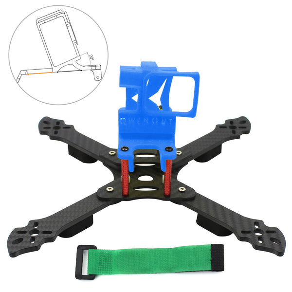 QWinOut Owl215 215mm Carbon Fiber FPV Racing Drone Frame Kit with 3D Print TPU Camera Mount for GOPRO 5/6/7 Action Camera