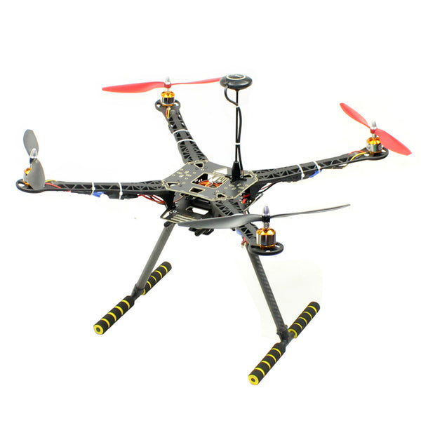 QWiNOut S600 4-Axle DIY Drone Kit Aerial Photography Aircraft PNP 600mm Frame Kit with Landing Gear Skid + APM2.8 Flight Control + 30A ESC + 930KV Motor + 1045 Paddles