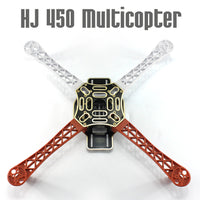 QWinOut F450-V2 Multicopter Nylon Fiber Airframe Kit 450mm Wheelbase 4-axle Frame for DIY RC Quadcopter Plane