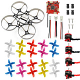 QWinOut DIY 75mm Indoor RC Racing Drone Combo Set Bwhoop75 Frame Kit & Crazybee F3 FC ESC & 1S KV19000 Motor 40mm 4-Paddles Propellers