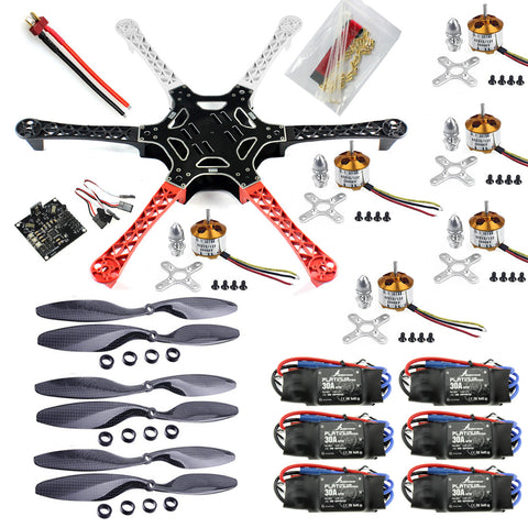 QWinOut F550 DIY RC Drone Kit 550mm FlameWheel Kit With KK 2.3 HY ESC Motor Carbon Fiber Propellers
