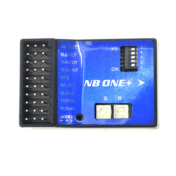 QWinOut NEW NB One NB One+ 32 Bit Flight Controller Built-in 6-Axis Gyro with Altitude Hold Mode + GPS Module for FPV RC Fixed Wing Automatic Balance