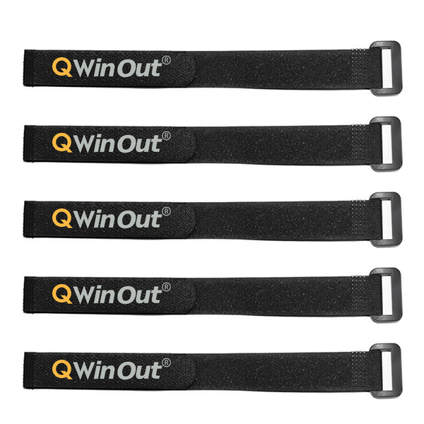 QWinOut 5pcs RC LiPo Battery Tie Down Straps Non-Slip 20x234mm Fastening Straps for FPV Racing Drone Quadcopter