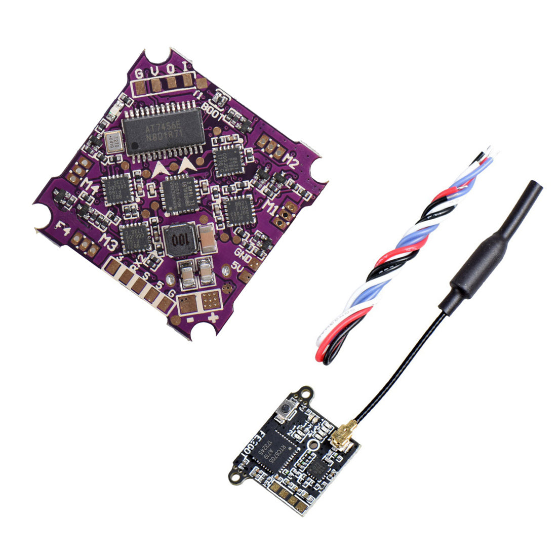 QwinOut Play F4 Whoop Flight Controller & 4in1 ESC FE200T 5 8G 40CH FPV  Transmitter VTX for DIY RC Drone Kit FPV Racing Quadcopter