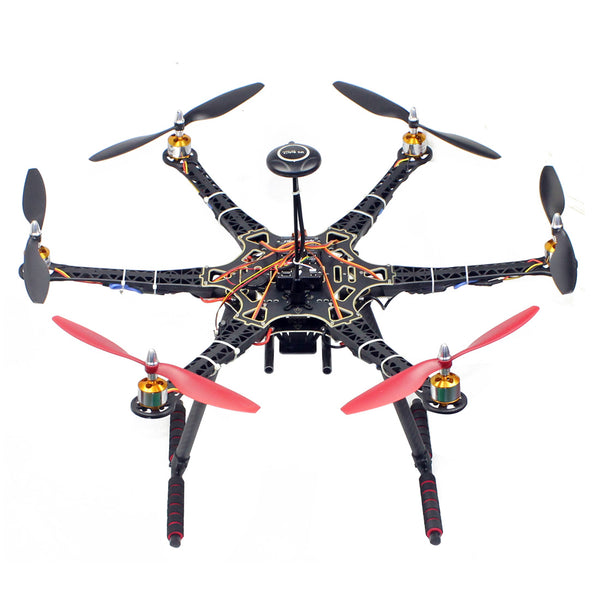 QWinOut S550 DIY Drone Kit Unassembly PNF 6-Axle Aircraft AirFrame + PIX4 Flight Control + 30A ESC + 930KV Brushless Motors + 1045 Paddles