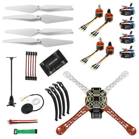 QWinOut DIY RC Drone Quadrocopter 4-axis Aircraft Kit F450-V2 Frame GPS APM2.8 Flight Control No Battery No Transmitter
