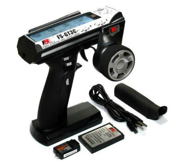 Flysky FS-GT3C FS GT3C 2.4G 3CH Gun RC Controller /w Receiver,TX battery,USB Cable Upgraded FS-GT3B
