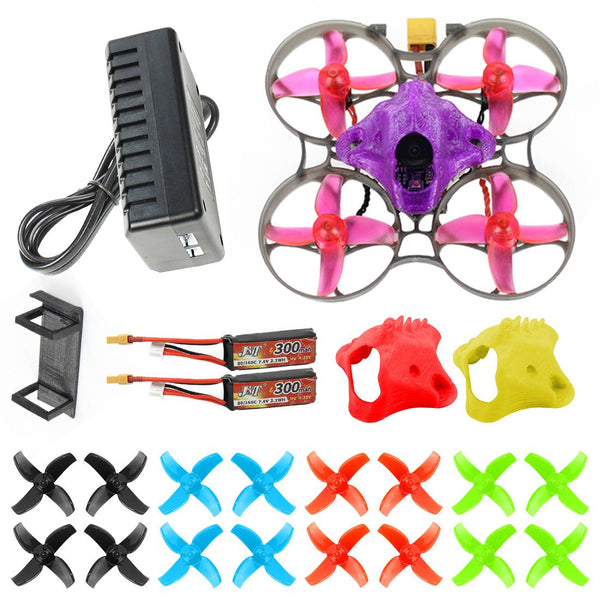 JMT J75 DIY FPV Racing Drone RC Quadcopter BNF with Mobula7 V3 75MM Frame Crazybee F4 Pro V2.1 2-3S Flight Controller SE0802 Motors