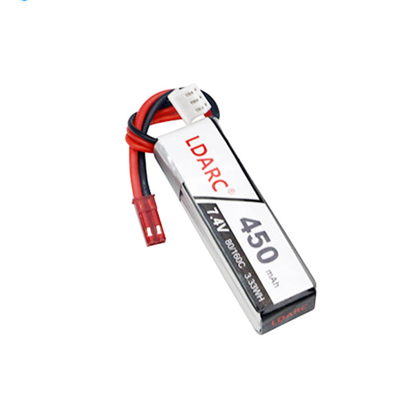 Clearance LDARC 7.4V 450mAh 80C Lipo Battery for FPV Racing Drone Quadcopter RC Helicopter Aircraft