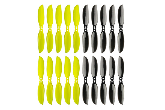 LDARC 10 Pairs 75mm Racer Propeller 1.5mm 1.0mm Hole 2-Blade Paddle CW CCW Props 3 Inch PC Propellers for Toothpick Frame DIY RC Drone Quadcopter Multicopter