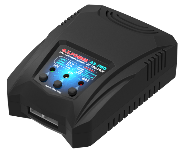 G.T.Power GTP A3 PRO Battery Charger AC 110-240V 50/60Hz 16W 2A Power Supply No Adapter RC Car Drone 2-3S Li-Po Li-Fe 4-8S Ni-MH Ni-Cd