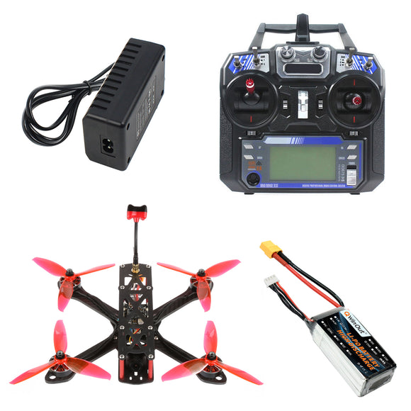 QWinOut T220 FPV Racing Drone RC Quadcopter RTF with Flysky Remote Controller F7 AIO Flight Control 2306 2400KV 3-4S Motors