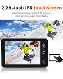"Hawkeye Firefly X 170 Degree / XS 90 Degree Action Camera w/ 2.35"" Touch Screen 4K 30fps Super-View Wifi Bluetooth FPV Sport Cam"