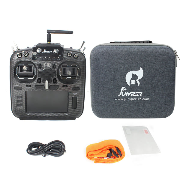 Jumper T18 PRO JP5-in-1 Multi-protocol RF Module OpenTX Radio Transmitter With Hall Gimbals Handbag Portable Case T16 Pro Hall V2 Upgraded Remote Controller