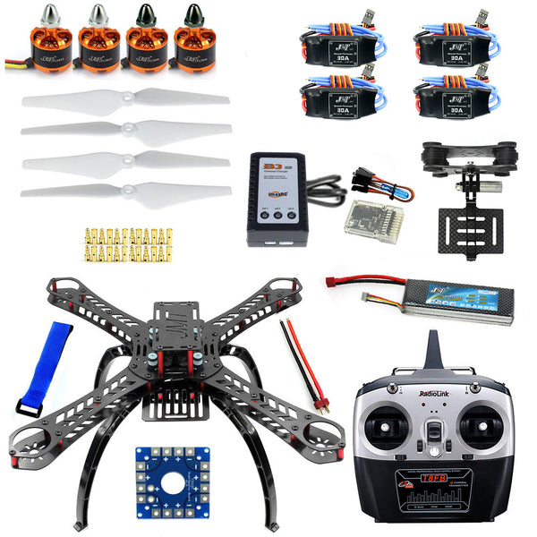 QWinOut X4M380L RC Helicopter 4-Axis Assembled QQ Super Flight Control+T8FB 8Ch Transmitter+11.1V 3300Mah 25C Battery