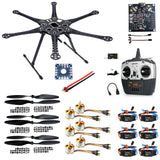 QWinOut S550 DIY RC Drone Kit KK Board+Upgrade Hexacopter 6-axle Frame Kit with Landing Gear +ESC+Motor+RX&TX+Propellers