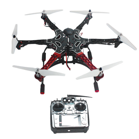 QWinOut 6-Axis DIY RC Aircraft Hexacopter Helicopter ARF Drone with AT10 TX/RX F550 Frame GPS with AT10 TX/RX No Battery