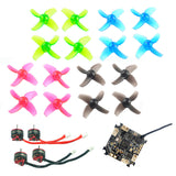 QWinOut Mobula7 Spare Parts Replacement Crazybee F3 Pro Flight Controller SE0802 1-2S CW CCW Motors Color Props Set