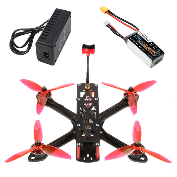 QWinOut T220 FPV Racing Drone RC Quadcopter BNF with 220mm Frame F7 AIO Flight Control 2306 2400KV 3-4S Motors FRSKY D8 Receiver