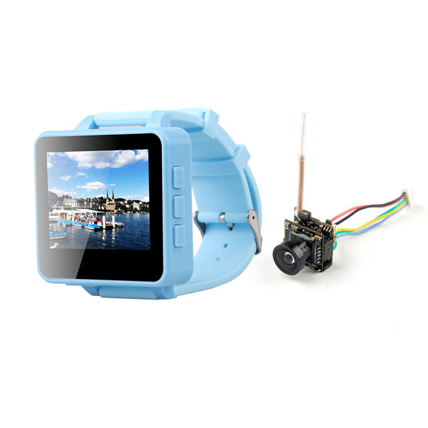 QWinOut FPV200 5.8GHz 48CH OSD Raceband DVR FPV Watch 2inch LCD 960*240 Display FPV Receiver with HCF7P AIO VTX Camera for DIY FPV Racing Drone