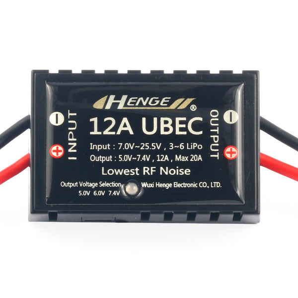 HENGE 12A UBEC For 3-6S Lipo Battery RC ESC Speed Controler FPV Racing Drone Quadcopter