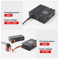 ISDT 608AC AC 60W DC 200W 8A BattGo Smart Battery Charger Discharger with Detachable Power Supply