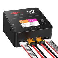 iSDT D2 200W 20A AC Dual Channel Output Smart Battery Balance Lipo Charger For RC Multicopter Models Li-po Battery