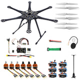 QWinOut DIY FPV Drone Hexacopter 6-axle Aircraft Kit HMF S550 Frame PXI PX4 Flight Control 920KV Motor GPS 9343 Propers 30A ESC