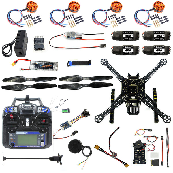 QWinOut S600 DIY FPV Drone 4axis Quadcopter Kit Pix2.4.8 Flight Control GPS 7M 40A ESC 700kv Motor FS-I6 TX RX Lipo Battery Full Set