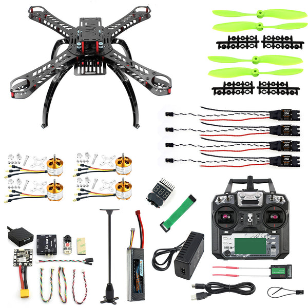 QWinOut DIY Mini Full X4M310L Kit Kits FPV Drone 2.4G 10CH RC 4-Axis Quadcopter Radiolink Mini PIX M8N GPS PIXHAWK Altitude Hold Module