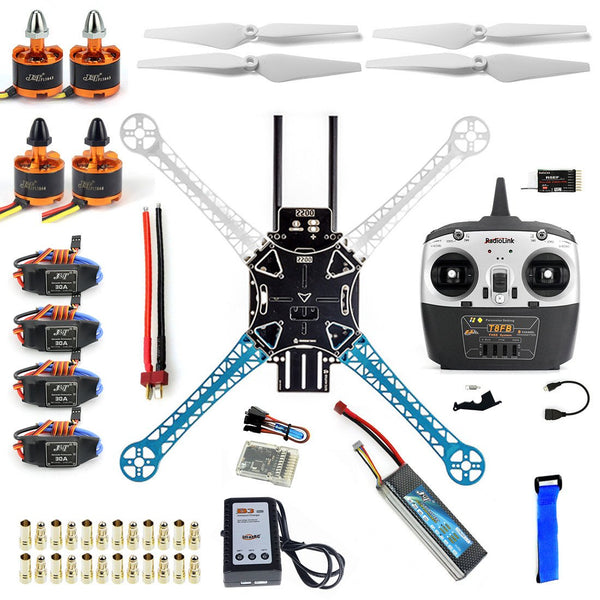 QWinOut S500 PCB 500mm DIY Drone QQ Controller Version Radiolink T8FB 2.4G TX&RX S500-PCB Multi-Rotor Frame Full Kit Motor ESC