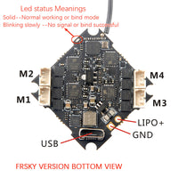 Happymodel Crazybee F4 Lite 2-4S Flight Controller with EX1203 1203 Motors & 65mm PC Props for Mobula 6 Tiny Whoop Mobula6 1S 65mm Brushless Whoop Drone