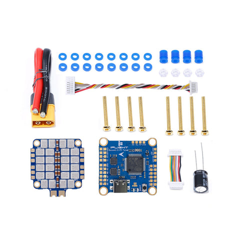 iFlight SucceX-D F7 TwinG Stack with SucceX-D F7 TwinG FC/SucceX 50A 60A 2-6S BLHeli_32 4 in 1 ESC for DJI Air Unit HD FPV System