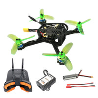 QWinOut Q135 135mm Mini F3 OSD 2S RC FPV Racing Drone Quadcopter 10A 7800KV Brushless 2.4G 6ch BNF RTF Combo Set 1200TVL HD Camera Goggles
