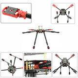 QWinOut J630 Full Set DIY 2.4GHz 4-Aixs RC Hexacopter 630mm Frame Kit APM2.8 Flight Controller with FS-i6X TX RX Brushless Motor ESC Part