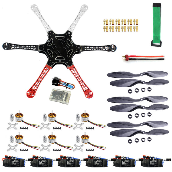 QWinOut DIY RC Drone Kit F550 Drone FlameWheel Kit With QQ HY ESC Motor Carbon Fiber Propeller