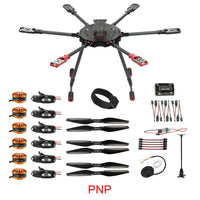 JMT Saker675 675mm 6-axis Carbon Fiber Folding Rack with T-Shaped Landing Gear APM2.8 Flight Control 5V 12VBEC Integrated Power Module ESC Sub-board HYD3508 700KV Motor 1255 Carbon Fiber Propeller