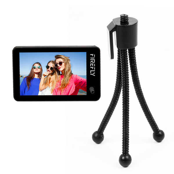 "Hawkeye Touch Screen Firefly X 170 Degree / XS 90 Degree Action Camera w/ 2.35"" 4K 30fps Super-View Wifi Bluetooth FPV Sport Cam w/ Small Soft Hose Mini Table Tripod Camera Stand Desktop Tripod"
