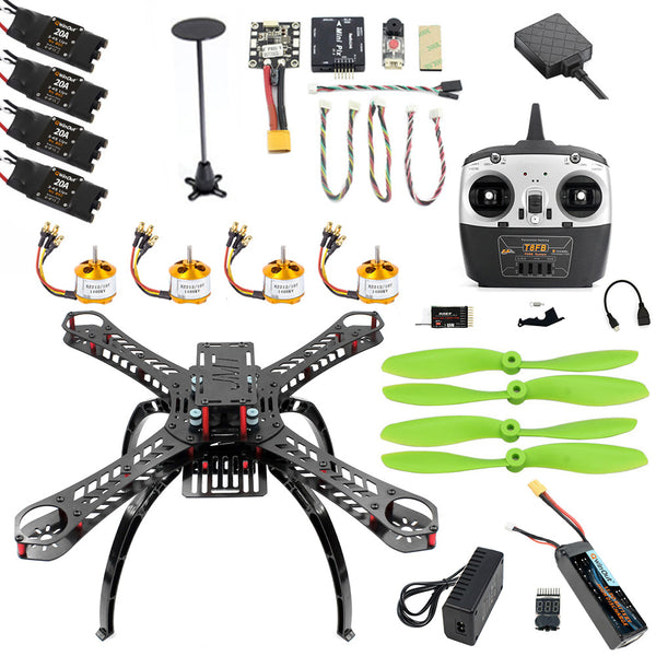 QWinOut 2.4G 8CH X4M310L DIY RC Aircraft Unassemble DIY Quadcopter Drone FPV Upgradable w/ Radiolink Mini PIX M8N GPS Altitude Hold Parts